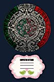 Aztec Calendar Sun Stone Mexican Art Carving Maya Mayans 5LKGX Notebook: 120 Wide Lined Pages - 6