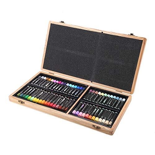 Atyhao Set di pastelli a Olio, Delgreen 60 Colori Pastello a Olio Pesante Bastone per Pittura a Olio Forniture artistiche per cancelleria per Bambini