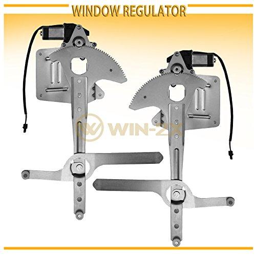WIN-2X New 2pcs Front Driver & Passenger Side Power Window Regulators With Motor Assembly Fit 95-05 Chevy S10 Blazer/GMC S15 Jimmy 94-04 S-10 Pickup/Sonoma 96-00 Isuzu Hombre 96-01 Oldsmobile Bravada