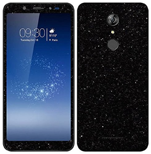 VcareGadGets Front and Back Full Body Glitter Skin for Micromax Infinity Canvas (Black)