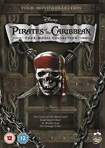 Pirates of the Caribbean 1-4 Reino Unido DVD