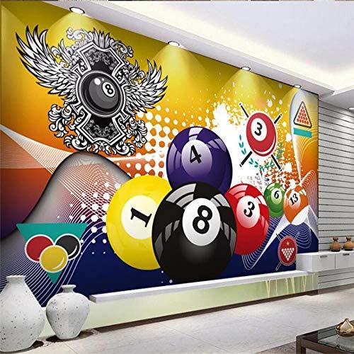 Muurstickers op maat Modern Biljart Pool Tafel Industriële Decoratie Muurschildering 3D Biljart Set Achtergrond Behang Wanddoek 3D 150 cm.