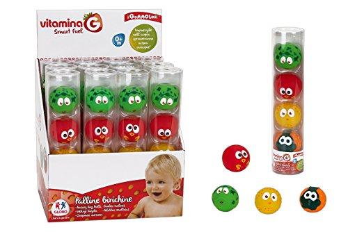 Globo Toys 5121 Vitamina _ G Gommolosi Funny Boules en Tube dans Une boîte (Lot de 4)