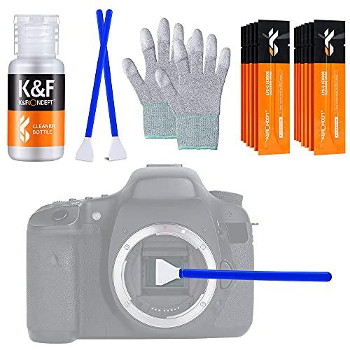 K&F Concept クリーニングキット3点セット メンテナンス用品 APS-Cセンサースワブ+手袋+ボトル(空き瓶) カメラ初心者向け お手入れ 掃除用品 一眼レフカメラレンズ対応