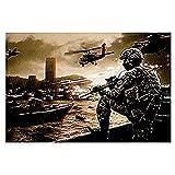 zachking Juego De Disparos 2 Call Of Duty Black Ops Poster Decorativo Pintura Lona Wall Art Room Sala Pósteres Dormitorio Pintura. 50x50cm Framed