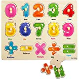 Rompecabezas de Madera, ZoneYan Puzzles de Madera, Regalo Ideal Toys Puzzle Infantil de Madera, Los Rompecabezas de Madera Incluye 4 Tipos de Rompecabezas Alfabeto Número Ocupaciones (NúMeros)