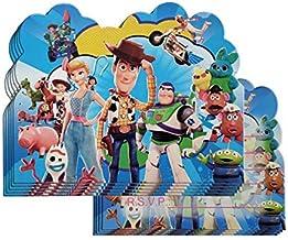 Personalised Disneys Toy Story 4 Birthday Invites inc Envelopes TS2