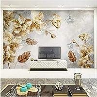 Xbwy 装飾壁画壁紙ヨーロッパスタイルレトロ花抽象的な壁画リビングルームテレビソファベッドルーム家の装飾-350X250Cm