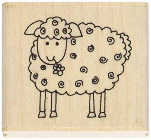 dans Le Jardin tampons LM bouclés Tampon en Caoutchouc en Forme de Mouton