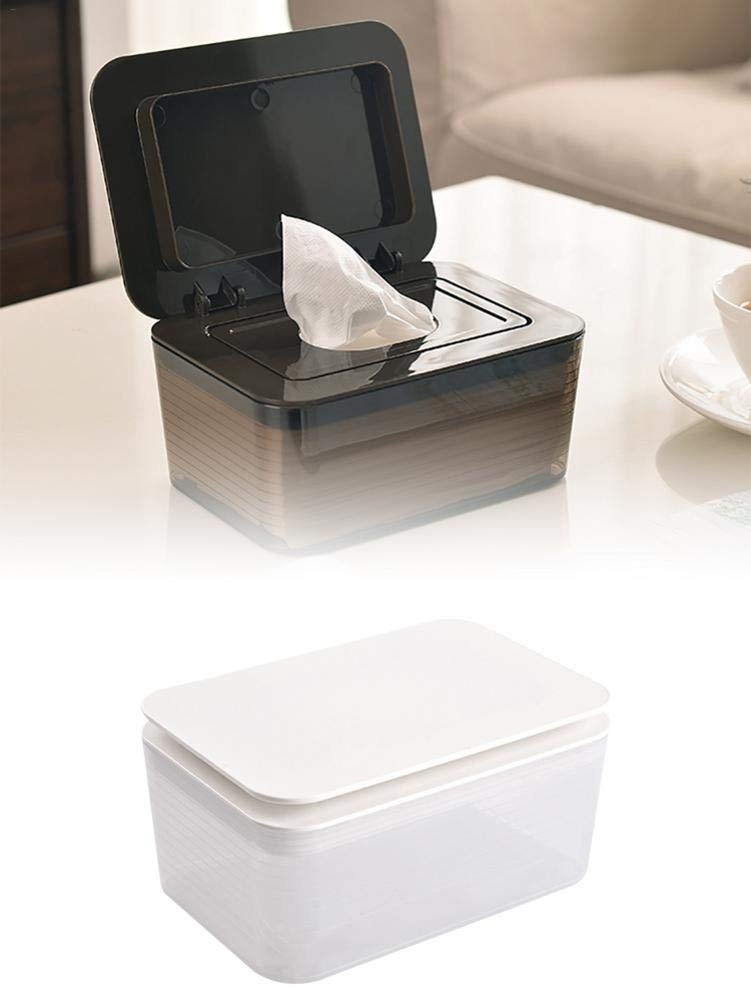 SinceY Caja de toallitas húmedas para bebés, dispensador de toallitas para bebé, con Tapa, Las toallitas Frescas Mantienen Las toallitas Frescas y resellables, 17 x 12 x 8,5 cm: Amazon.es: Hogar