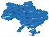 Poster 130 x 100 cm: Ukraine von Editors Choice -