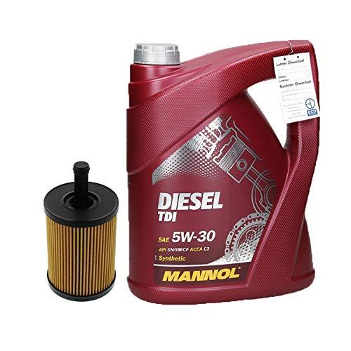 ECD Germany Motoröl Diesel TDI 5W-30 5L + Ölfilter Motorölfilter Ölfiltereinsatz