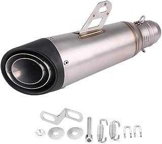 Keenso 38–51 mm Universal Auspuff Schalldämpfer aus Edelstahl, mit Adapter für Motorrad, Dirt Bike, Street Bike, Roller, ATV, Rennrad