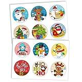Dekora - 12 Mini Discos Comestibles de Navidad para Cupcakes, Muffins o Galletas - 5,8 cm