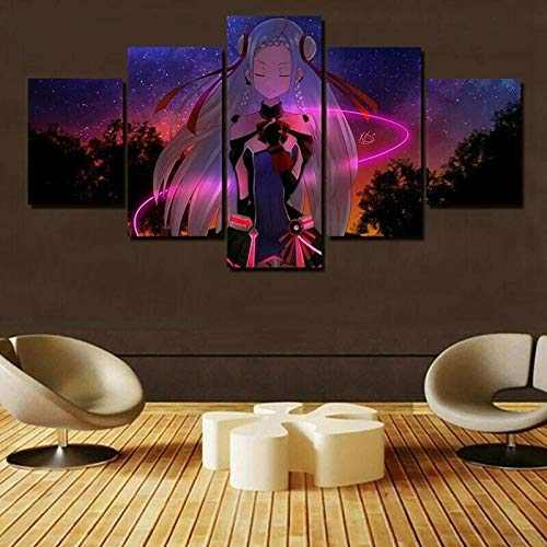 HJYT Cuadro Moderno En Lienzo,Póster De Sword Art Online HD Abstracta Pared Modulares Sala De Estar Impresión Artística Dormitorios Decoración De Pared Enmarcado/150x80CM