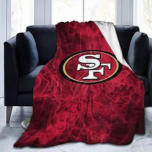 Eileen Powell San Francisco 49ers-. Ultra-weiche Micro Fleece Decke für Couch/Wohnzimmer/warme Winterfell Plüsch Decke 50 'x 40'