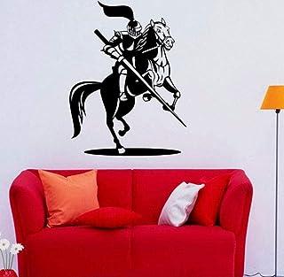 Art Muurstickers Ontwerp Slaapkamer Decoratieve Ridder Ridder Middeleeuwse Vinyl Home Decor Zelfklevende Sticker 58X77Cm M...