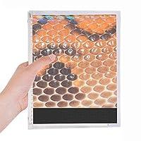 スナックの革の抽象的なデザイン 硬質プラスチックルーズリーフノートノート