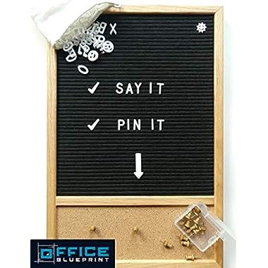 Letter Board 12x18, Cork Board, 346 Letters & Symbols, Pins | Bulletin Board, Changeable Letter Board, Felt Board, Word Board, Sign Board