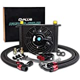 New 28 ROW AN10 Universal Engine Oil Cooler + 7' Black Cooling Fan + Filter Adapter Hose Kit