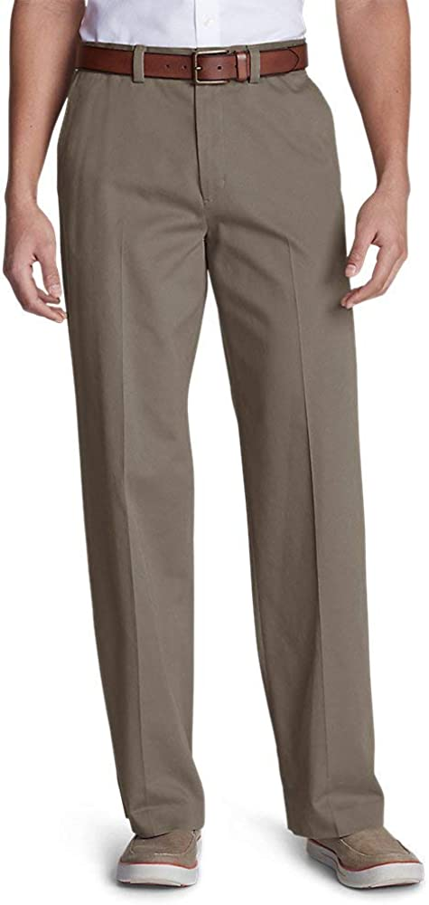 Eddie Bauer Men's Casual Performance Flat-Front Chinos - Relaxed