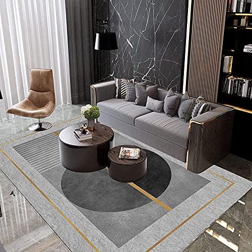 A-Generic Moderno Minimalista Alfombra Sala de Estar Centro Dormitorio Dormitorio Gran área Cubierta de Alfombra Material Lavable Ropa Antideslizante 30x160cm-C_100x200cm
