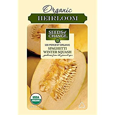 Seeds of Change 01518 Certified Organic Squash, Winter, Spaghetti