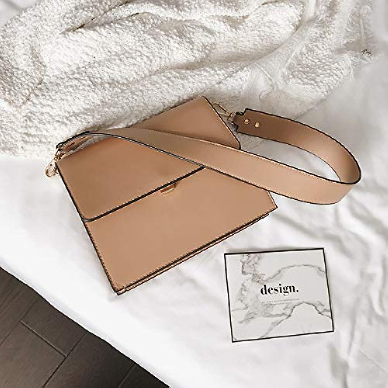 WANGZHAO Women's Bag, Shoulder Bag, Satchel Handbag, Black and Simple Fashion.