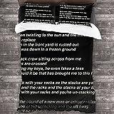Bon Iver - Re Stacks Song Lyrics Duvet Cover Set 3Pcs WMCYZHU Bedding Set Pillow Shams Comforter Sets 86'x70'