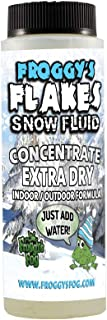 Concentrate Froggys Flakes Snow Juice Machine Fluid - Makes 1 Gallon Snow Formula: EXTRA DRY (30 Feet Float/Drop)