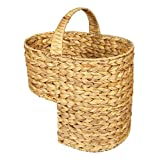 Water Hyacinth Stair Basket/Step Storage Basket with Handle, Large