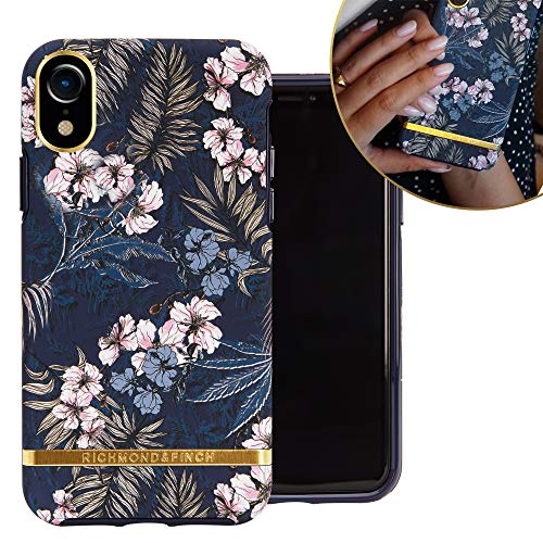 Richmond & Finch entwarfen für iPhone XR Case, florales Dschungel-Etui für iPhone XR mit goldenen Details - Blumen