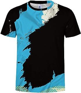 5ef4d4755d Homme Tee Shirt Humour Personnalisé T-Shirt 3D Imprimé Slim Tops Ete 2019  Bonjouree
