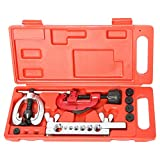 "Double Flaring Tool Kit 7 Dies with Tubing Bender (Flare Tool) and Pipe Cutter (1/8"" to 1-1/8"" Inch / 3-30mm) For Automotive Brake Line Copper Brass Aluminum"