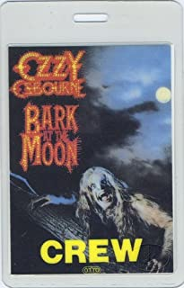 ozzy backstage pass