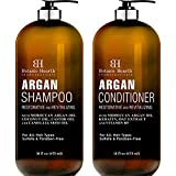 BOTANIC HEARTH Argan Oil Shampoo and Conditioner Set - with Keratin, Restorative & Moisturizing,...