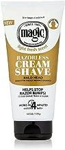Best magic razorless cream shave bald head Reviews