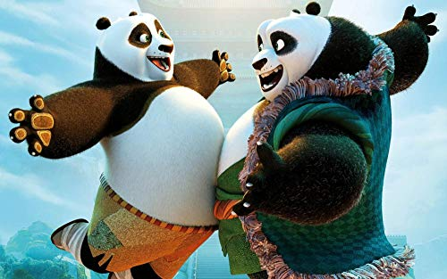 Zheng Adultos Puzzle 1000 Piezas Puzzles Kung Fu Panda-Meeting Padre E Hijo - Puzzle Regalos Para Personas Mayores Juegos De Rompecabezas Para La Damilia Decoración Del Hogar 50X70 Cm