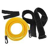 Natación Entrenamiento Cuerda Nadar Bungee Cinturones de entrenamiento Resistencia al nadador Ejercitador Correa Seguridad para la piscina Herramientas para niños adultos, Amarillo (4m)