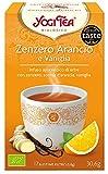 Yogi Tea Infusión de Hierbas Jengibre, Naranja y Vainilla -
