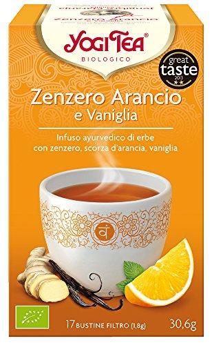 Yogi Tea - Infusión Ayurvédica de Hierbas con Jengibre, Cáscara de Naranja y Vainilla - 17 Bolsitas, 30.6 g