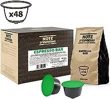 Note d'Espresso - Lot de capsules Exclusivement Compatibles avec les machines à capsules Nescafé* et Dolce Gusto*