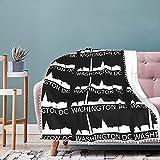 Washington Dc Washington Dc Pompom Fringe Blanket Cozy Throw Blanket