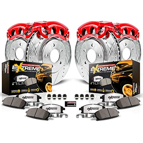 Power Stop KC1782-36 Front & Rear Z36 Truck and Tow Brake Kit with Calipers