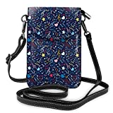 Jiger Women Small Cell Phone Purse Crossbody,Hearts Notes Stars Melodic Inspiration Musical Lifestyle Rhythm In My Heart Design