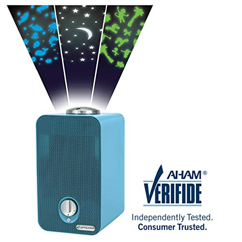 Germ Guardian HEPA Filter Air Purifier for Home, Kids Rooms, Night Light Projector, Filters Allergies, Pollen, Smoke, Dust, Pet Dander, UV-C Sanitizer Eliminates Germs, Mold, Odors, 4-in-1 AC4150BLCA