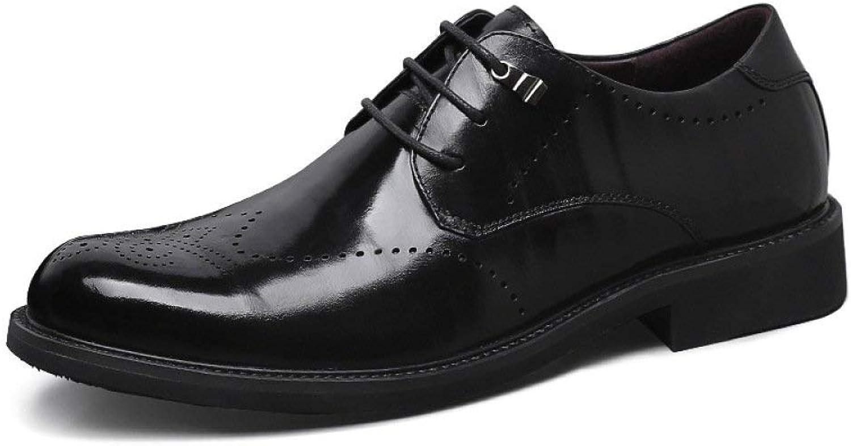 Frühling und Sommer Herren Leder Freizeitschuhe weichen unteren Schuhe Wei Trend Herrenschuhe atmungsaktive Schuhe weie Schuhe (Farbe   Schwarz, Gre   39)