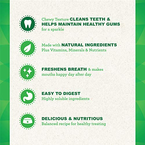 GREENIES Grain Free TEENIE Natural Dog Dental Care Chews Oral Health Dog Treats, 36 oz. Pack (13 Treats)