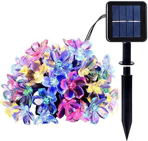 yvyuan Solar String Light 8 Modes 100 LEDs waterproof for Patio Lawn Garden Home Wedding Christmas Party Decoration (Size : Multicolour)