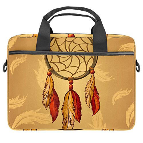 13.4'-14.5' Laptop Case Notebook Cover Business Daily Use or Travel Retro Indian Dreamcatcher Feather
